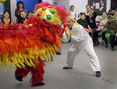 Performers stage a traditional Lion Dance during a Chinese New Year's party, Sunday afternoon at Calvary Temple. This week marks the start of the Year of the Sheep in traditional Chinese culture.