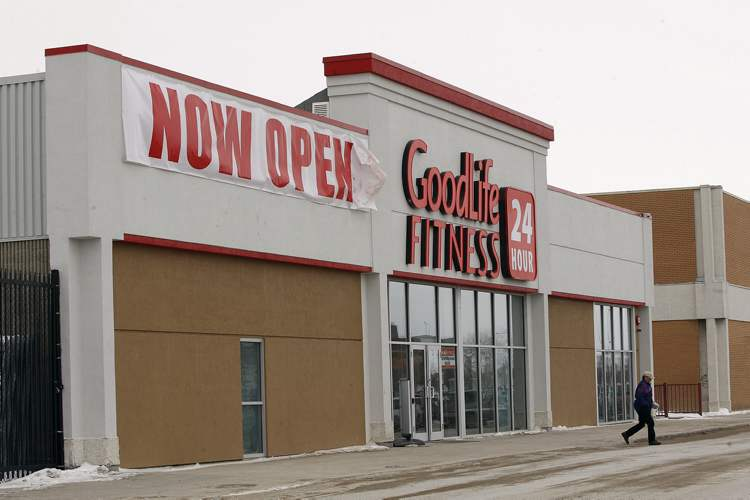 GoodLife Fitness will open a facility in Brandon Shoppers Mall in early 2017. This is a photo of the club located at Garden City Shopping Centre in Winnipeg.