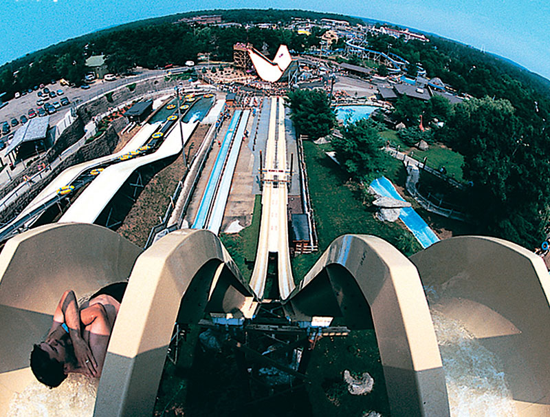One of the more extreme water slides at Noah's Ark waterpark in Wisconsin Dells.