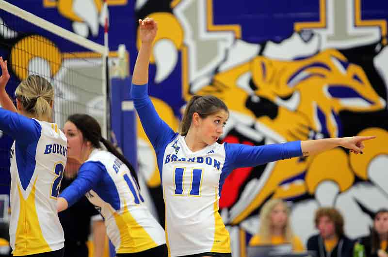 Chloe Reimer (11) and the Bobcats women's volleyball team are now ranked 11th in CIS.