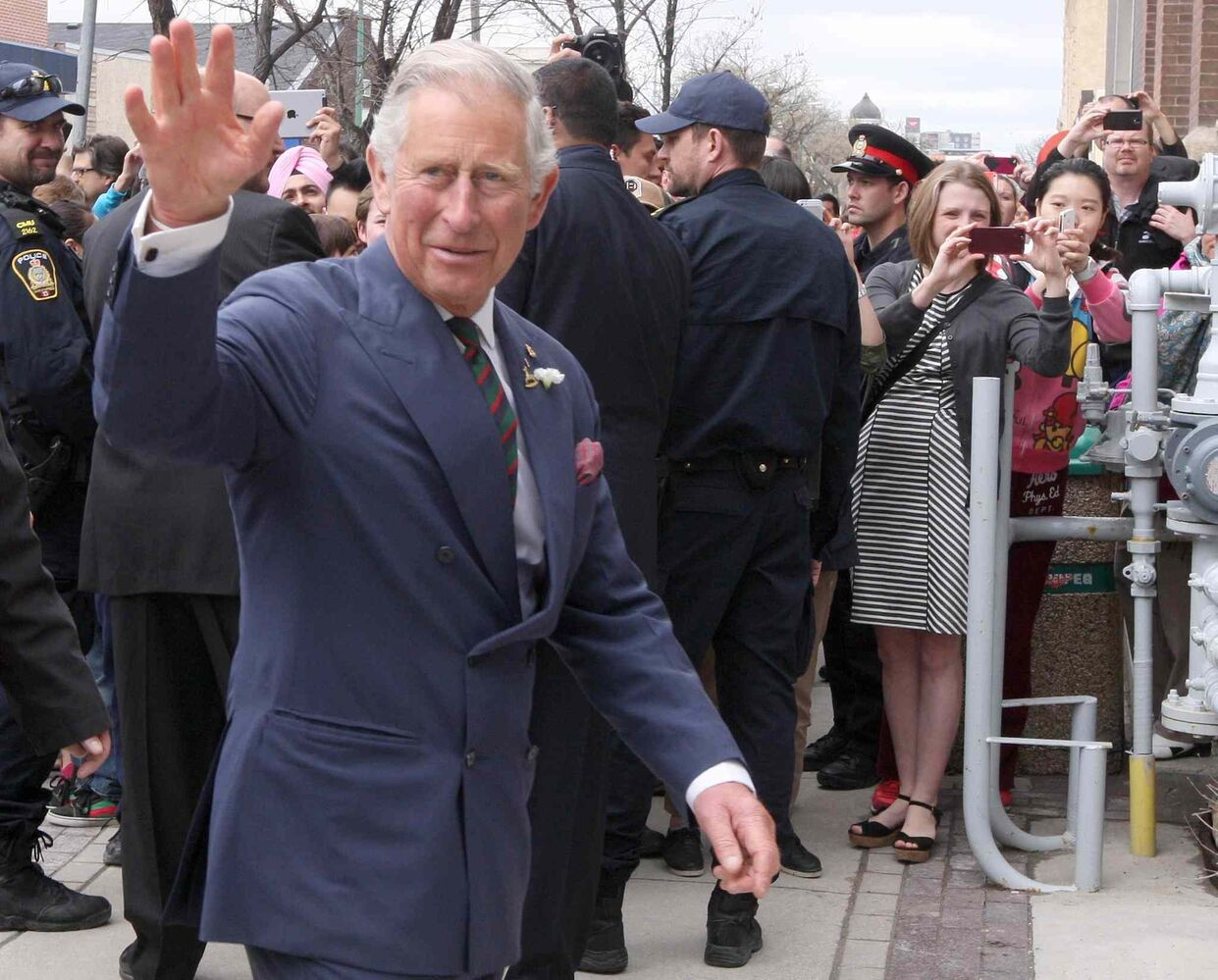 His Royal Highness Prince Charles attends Red River College downtown campus Wednesday afternoon in Winnipeg.  (JOE BRYKSA / WINNIPEG FREE PRESS)
