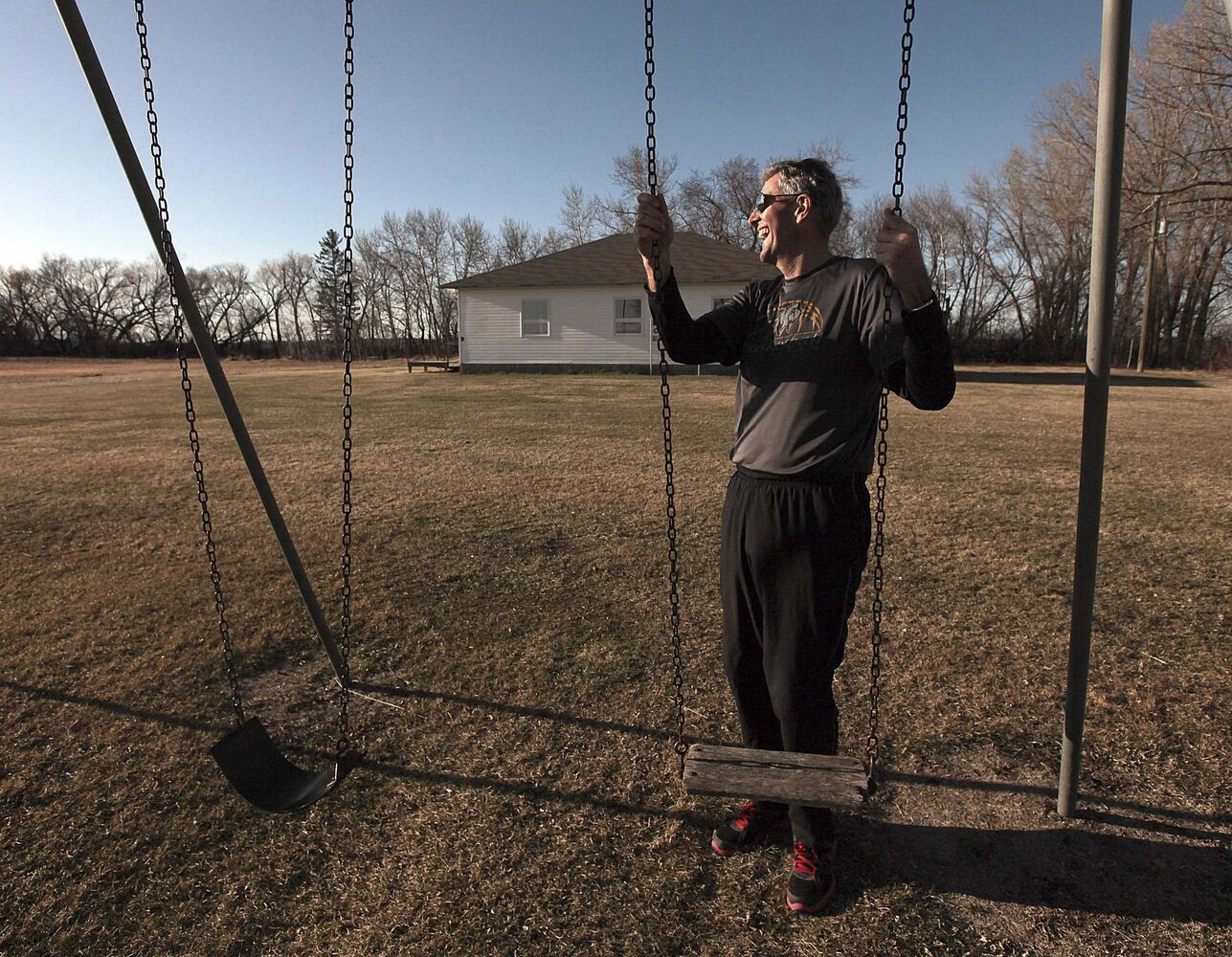 PHIL HOSSACK / WINNIPEG FREE PRESS</p><p>Pallister visits the two-room school he attended.</p></p>