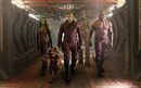 This image released by Disney - Marvel shows, from left, Zoe Saldana, the character Rocket Racoon, voiced by Bladley Cooper, Chris Pratt, the character Groot, voiced by Vin Diesel and Dave Bautista in a scene from