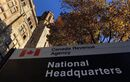 The Canada Revenue Agency headquarters in Ottawa is shown on November 4, 2011. A left-leaning think-tank was targeted by the Canada Revenue Agency for a political-activities audit last fall partly because the research and education material on its website appears to be