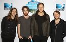 From left to right Daniel Wayne Sermon, Daniel Platzman, Dan Reynolds and Ben McKee of the group Imagine Dragons are seen at the 2015 DIRECTV Super Fan Fest on Friday, Jan. 30, 2015 in Glendale, Ariz. (Photo by Donald Traill/Invision/AP)