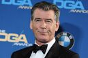 FILE - In this Feb. 7, 2015 file photo, Pierce Brosnan attends the Press Room at the 67th Annual DGA Awards, in Los Angeles. Police say former James Bond actor Brosnan has been stopped at a Vermont airport security checkpoint because of a knife he was carrying. Burlington Police Department Lt. Shawn Burke says airport authorities told him about Brosnan's encounter with Transportation Security Administration agents. He said Tuesday, Aug. 4, 2015, that police wouldn't be called to Burlington International Airport for such an incident and they don't have a report on it. (Photo by Richard Shotwell/Invision/AP, File)