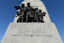 Police are investigating after a man was seen committing an obscene act to the National War Memorial. The Memorial, with the dates marking the First World War, is seen in Ottawa on November 11, 2014. THE CANADIAN PRESS/Sean Kilpatrick