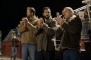 In this image released by Paramount Pictures, David Denman Adam Sandler, and Dean Norris appear in a scene from