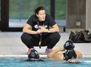 Water polo coach Johanne Begin is shown in a handout photo.Water Polo Canada is taking the interim tag off Begin's title as head coach of the Canadian senior women's water polo team. THE CANADIAN PRESS/HO-Diane Bekhazi