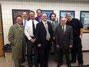 """The cast of """"Glengarry Glen Ross,"""" the first play performed by the Assiniboine Theatre Company in December 2014. The troupe is now looking to put on at least one play a year."""