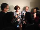 Jobs and the Economy Minister Theresa Oswald told reporters today that the ministers have agreed not to speak publicly on the leadership question until they meet with the premier again.