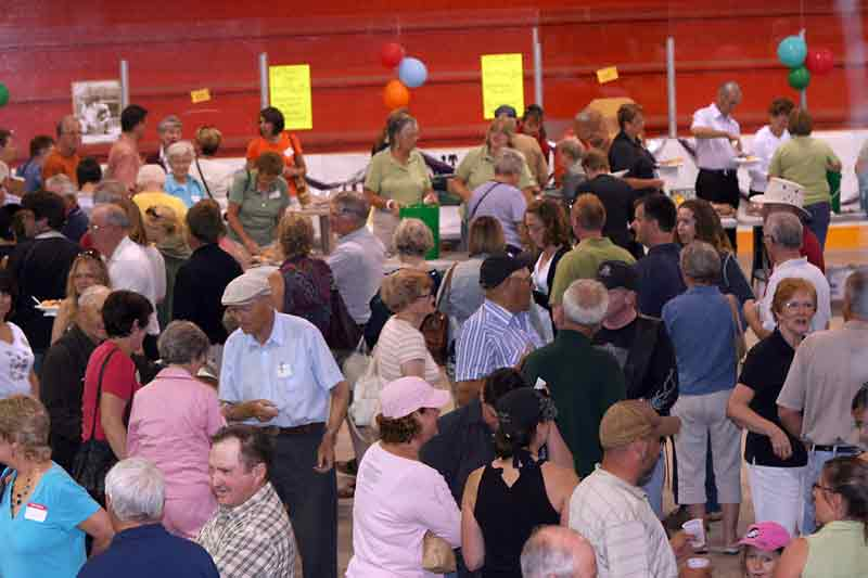 In this August 2009 photo, residents gather in Melita to mark the RM of Arthur's 125th anniversary. Melita currently is facing labour and housing shortages.