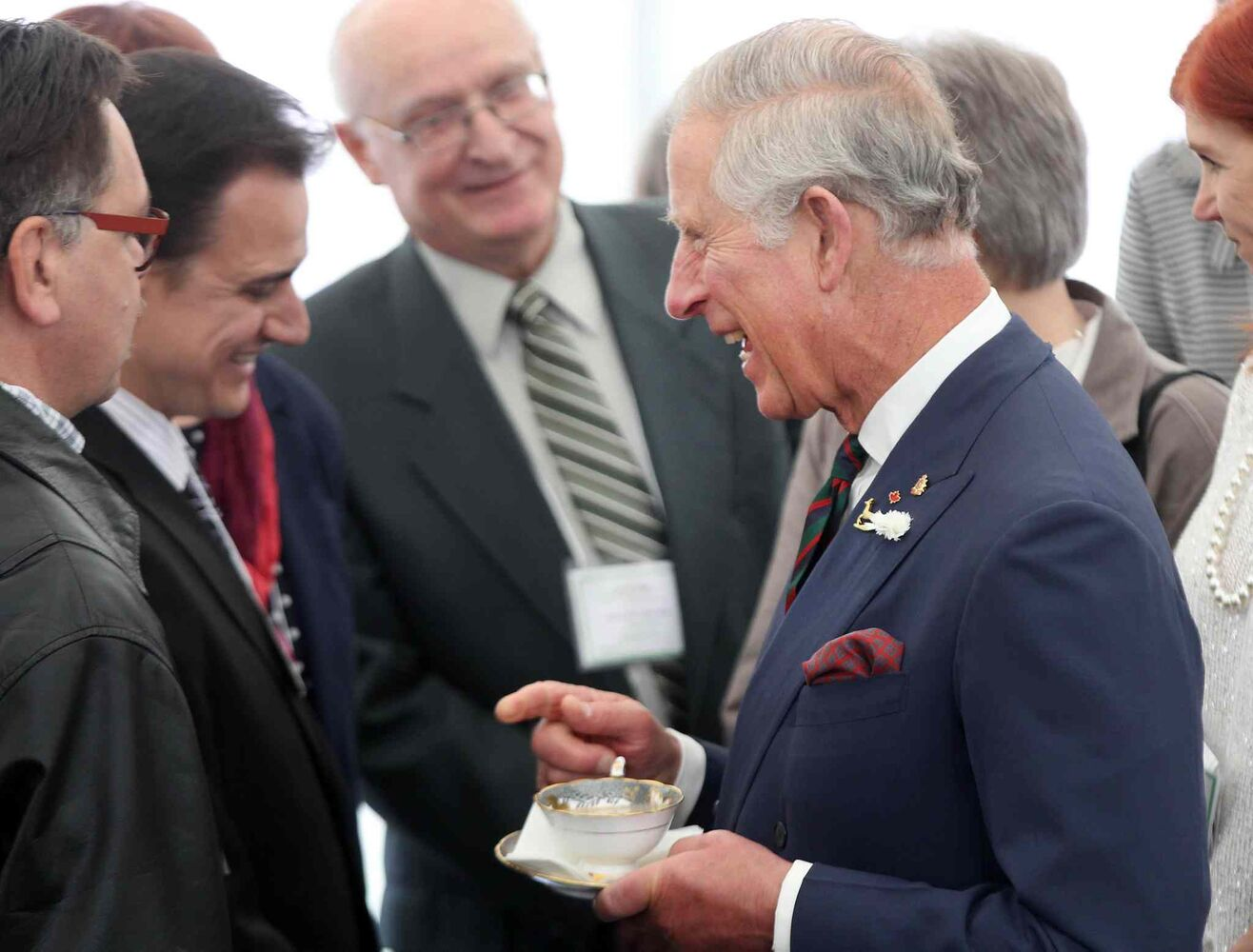 Prince Charles meets residents of Place Bernadette Poirer . (JOE BRYKSA / WINNIPEG FREE PRESS)