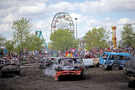 Demo derby event dedicated to former towing company owner