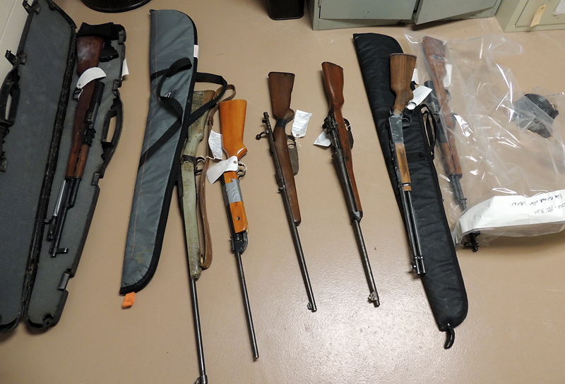 RCMP officers, the Integrated Gang Intelligence Unit, the National Weapons Enforcement Team and the Dakota Ojibway Police Service seized at least seven firearms following raids on a pair of homes on Sandy Bay First Nation on Saturday. Four Sandy Bay residents have been charged with various weapons offences. One of the suspects remains in custody while the three others have been released. They are due to appear in a Portage la Prairie court in April.