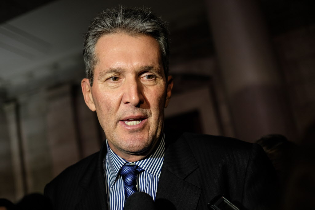 Tory Leader Brian Pallister says he would give government employees a chance to bid on jobs rather than lay them off.