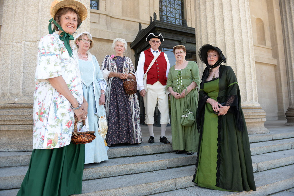 United Empire Loyalists Jennifer Swanston (from left), Mary Steinhoff, Margaret Carter, Ken Swanston, Lorraine Cook and Vera Mary Ash.