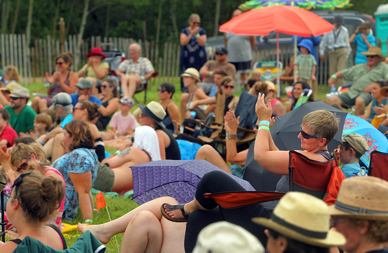 The audience applauds during last year's 10th annual Harvest Sun Music Festival in Kelwood. The tiny hamlet just east of Riding Mountain National Park hosts a festival dedicated to agricultural communities and sustainable living.