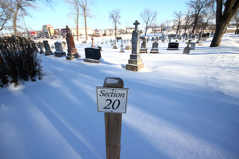 Section 20 of the Brandon Municipal Cemetery, where all but one of the victims of Manitoba's second worst train disaster were buried 100 years ago.