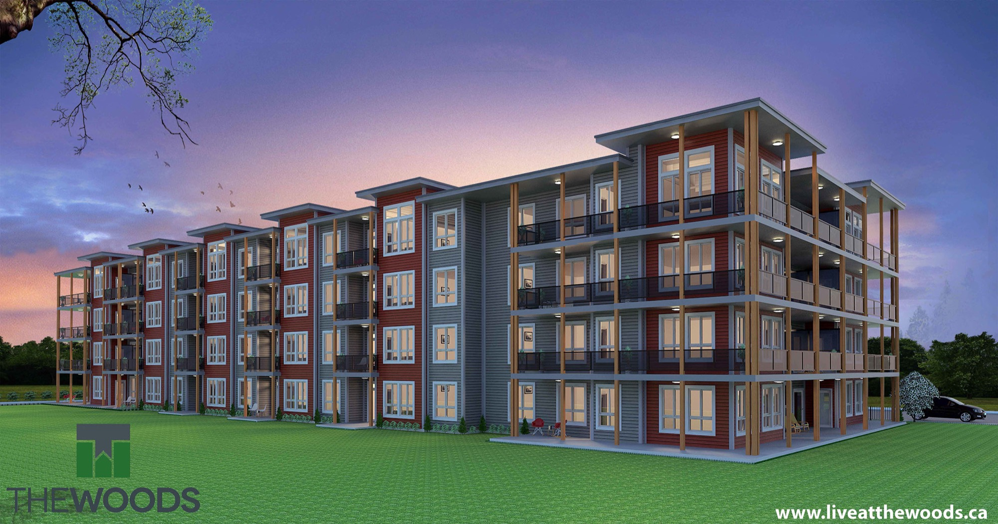The new south-end subdivision called The Woods will include four apartment buildings (174 suites) and 22 townhomes.