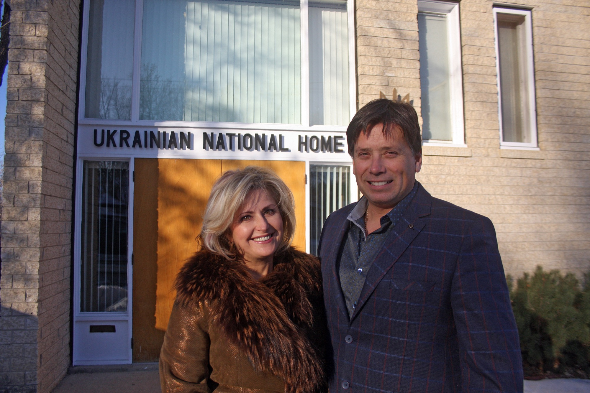 Iryna and Jerry Belinsky are seen outside the Ukrainian National Home at 1133 Stickney Ave., which they help run and which hosts activities that maintain Ukrainian culture in Brandon. Iryna, who is originally from Ukraine, relocated to Brandon to pursue greater economic opportunity. Jerry's grandfather immigrated to Canada from Ukraine near the beginning of the 20th century.
