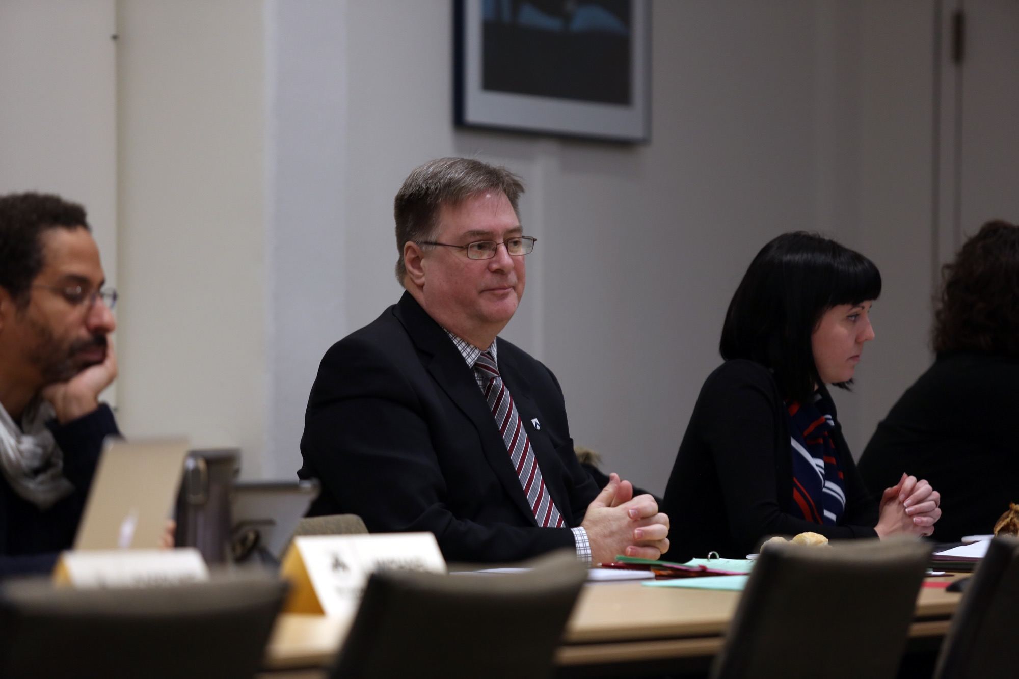 Brandon University interim president Steven Robinson at a Board of Governors meeting on Saturday.