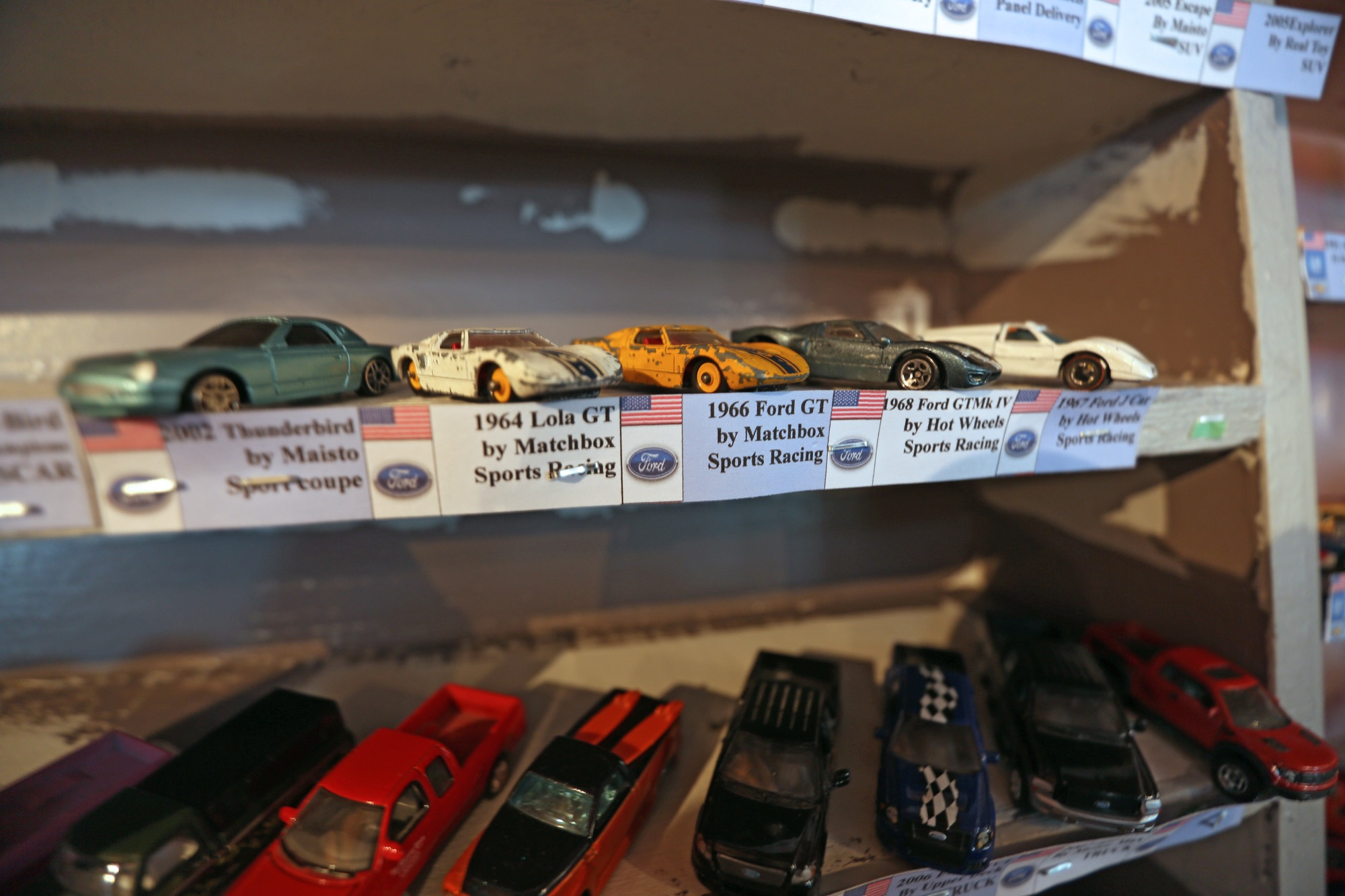 Approximately 2,500 toy cars have been put on shelves and labelled by collector David Boyce in preparation for today's grand opening of the Arbour Insula Maré Gallery and In Scale Toy Car Museum.
