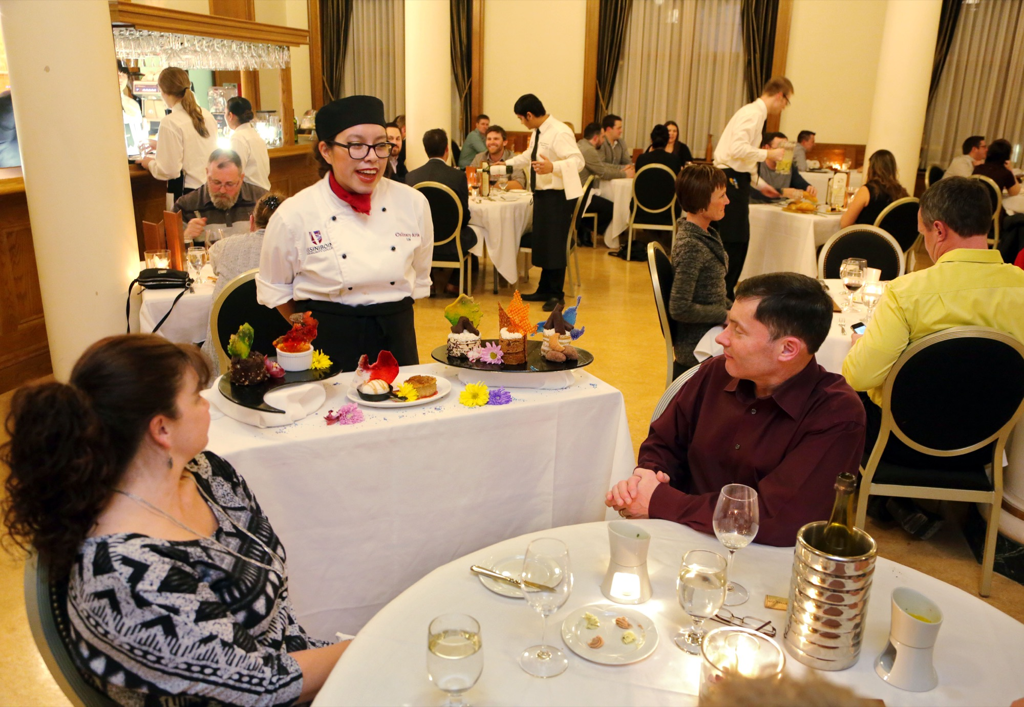 Culinary arts students with Assiniboine Community College stage the 2015 Grey Owl dinner at the college's North Hill campus. Tickets for this year's Grey Owl have already sold out.