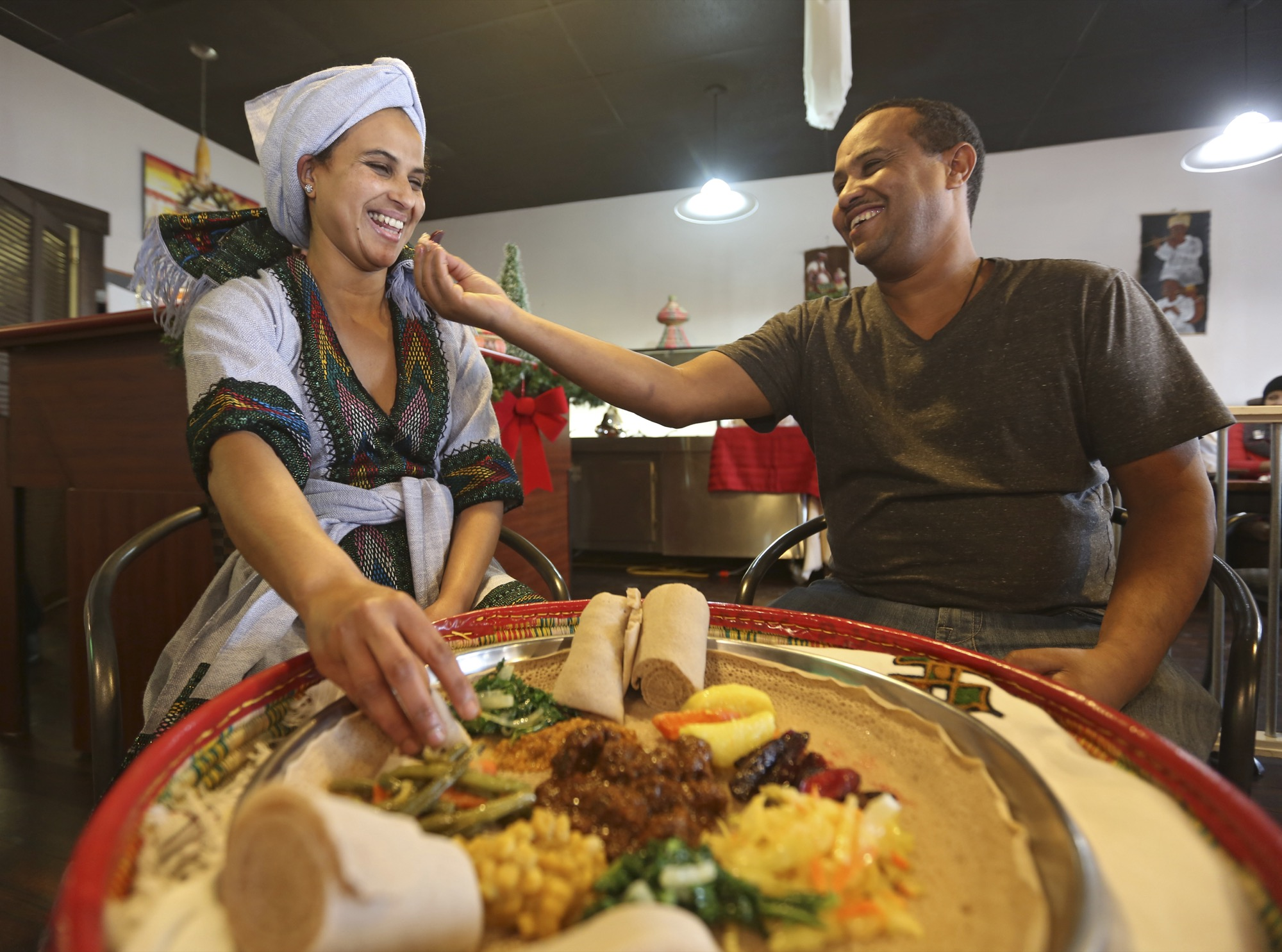 Damot Hailu and Abebe Yohannes, owners of Tana Ehtiopian Cuisine, opened their restaurant in 2015, offering tradiitonal Ethiopian dishes and a buffet.