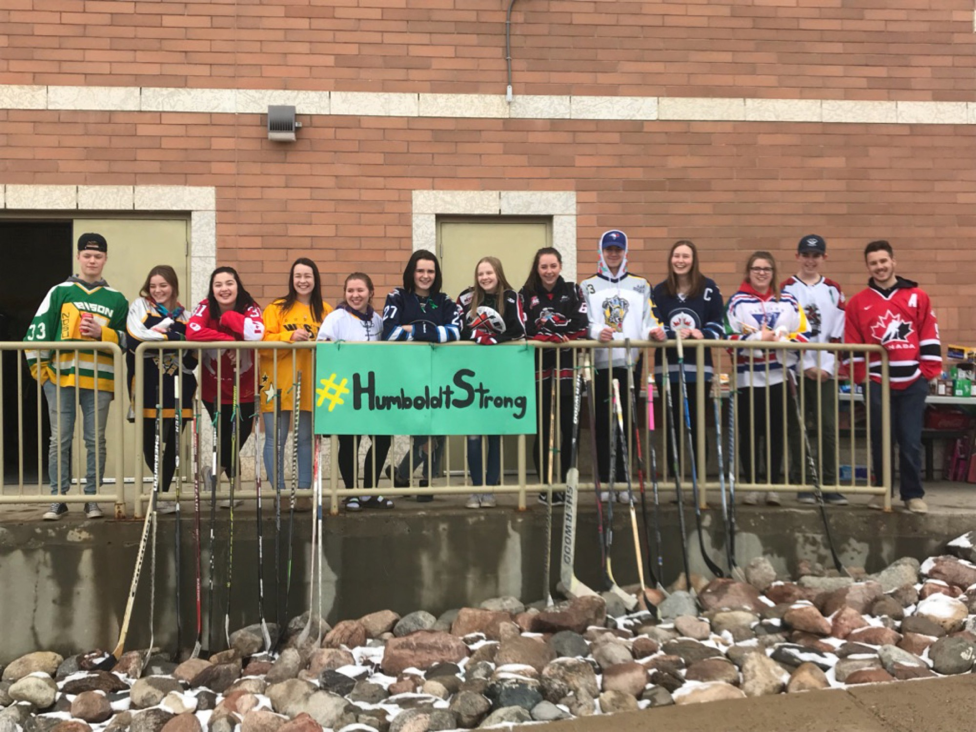 Students from Virden Collegiate Institute got together for a barbecue fundraiser on Thursday, raising more than $11,000 in support of the Humboldt Broncos hockey team.