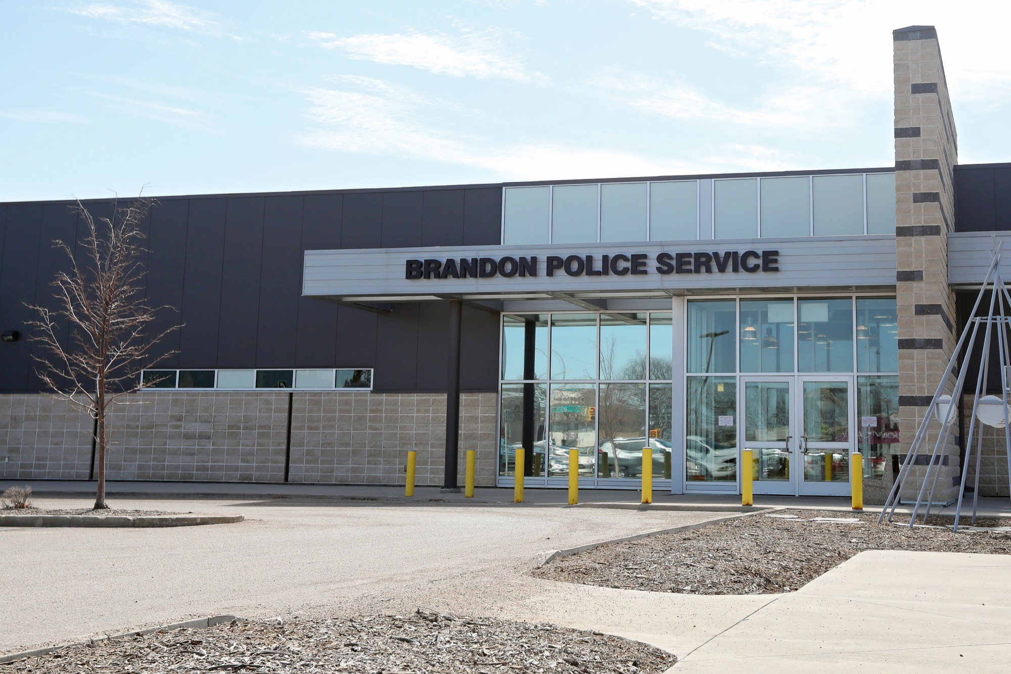 The Brandon Police Service station at 10th Street and Victoria Avenue.