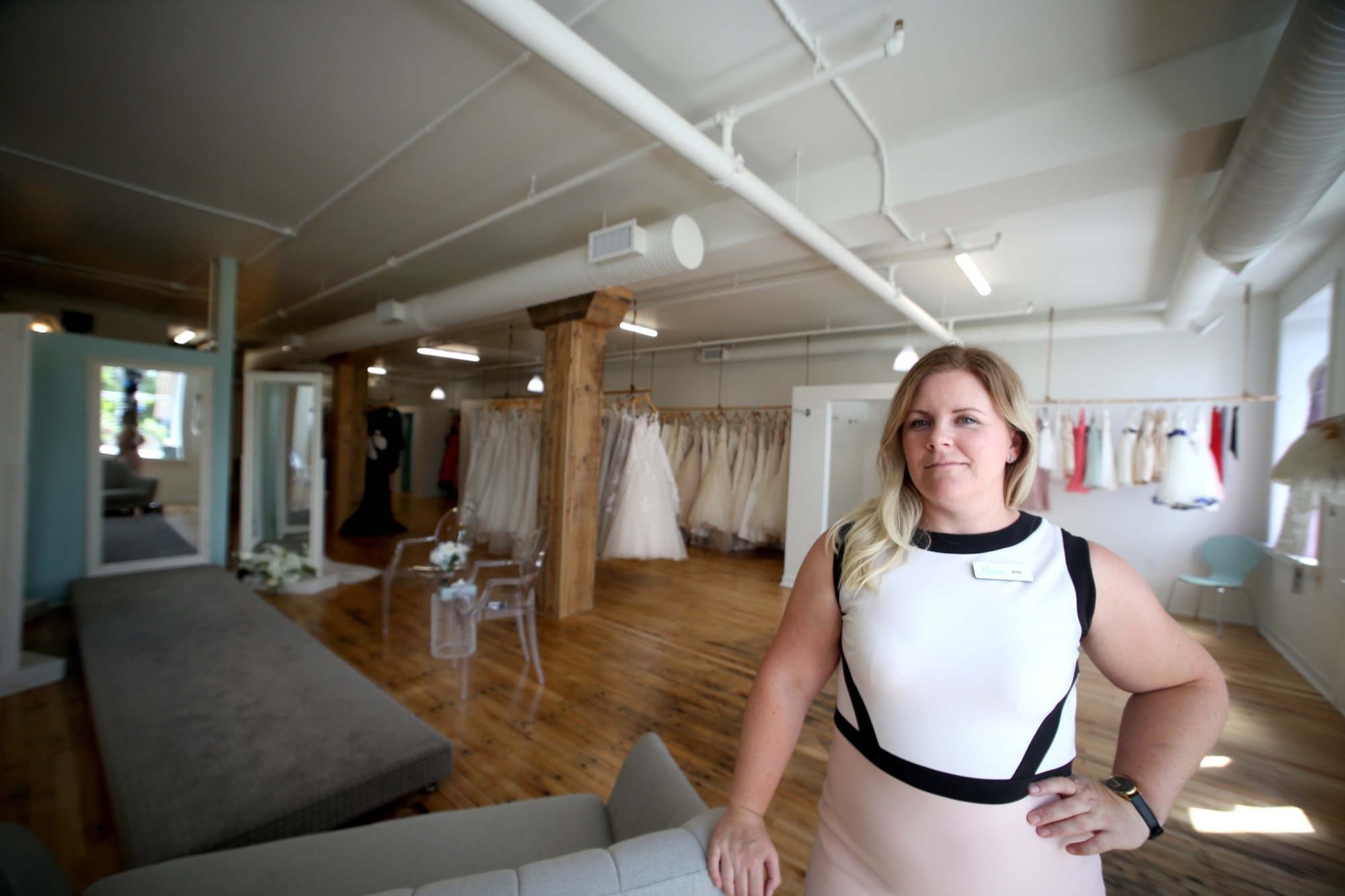 2a69947666 Muse Boutique   Bridal Studio owner Britt Lawson Corbett is pictured in her  new business space