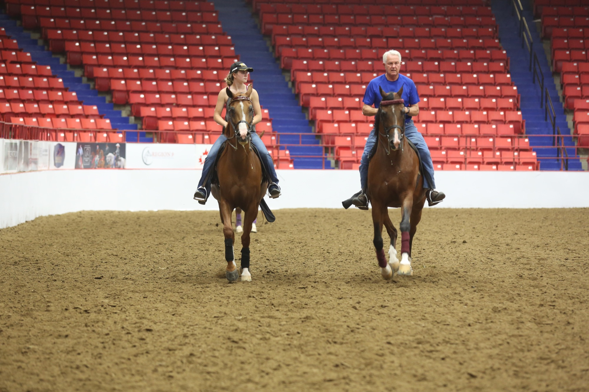 Horses and riders gear up for the Canadian National Arabian & Half-Arabian Championship Horse Show that began on Sunday in Brandon.