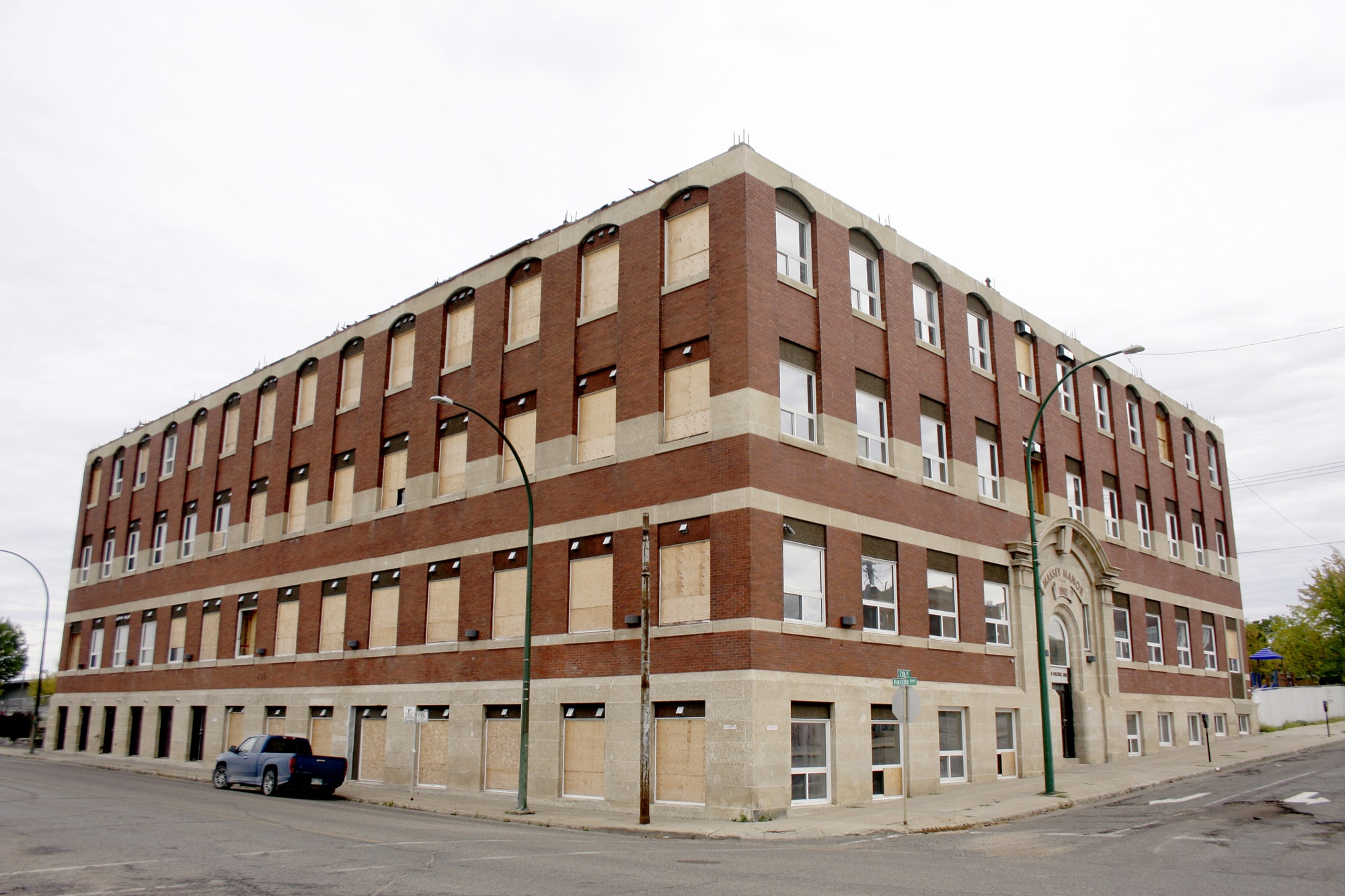Massey Manor has remained vacant ever since a fire tore through downtown Brandon during the May long weekend.