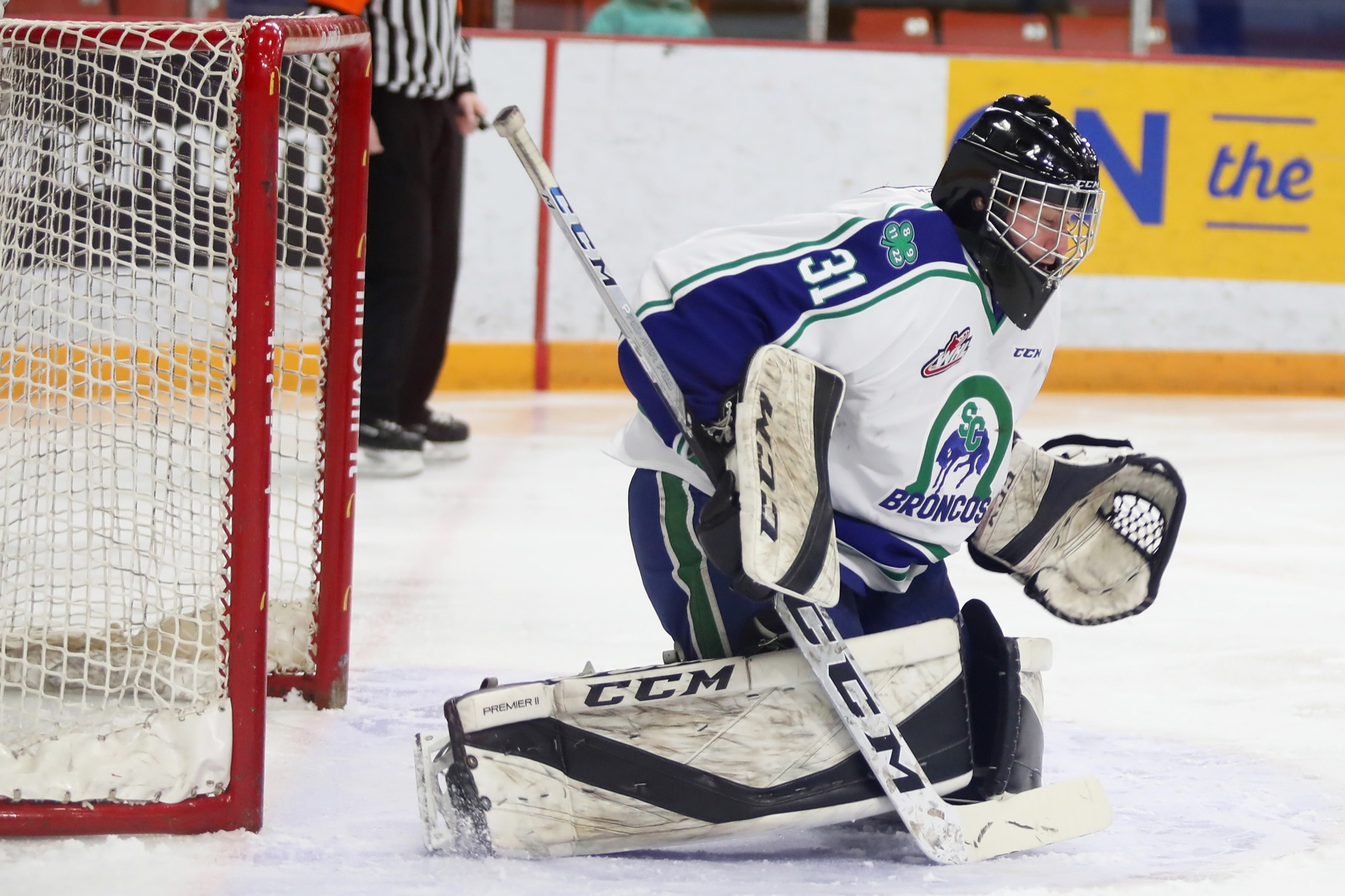 Riley Lamb of Rivers is glad he's getting a second chance in the WHL and gets to finish off his junior hockey career with the Swift Current Broncos.