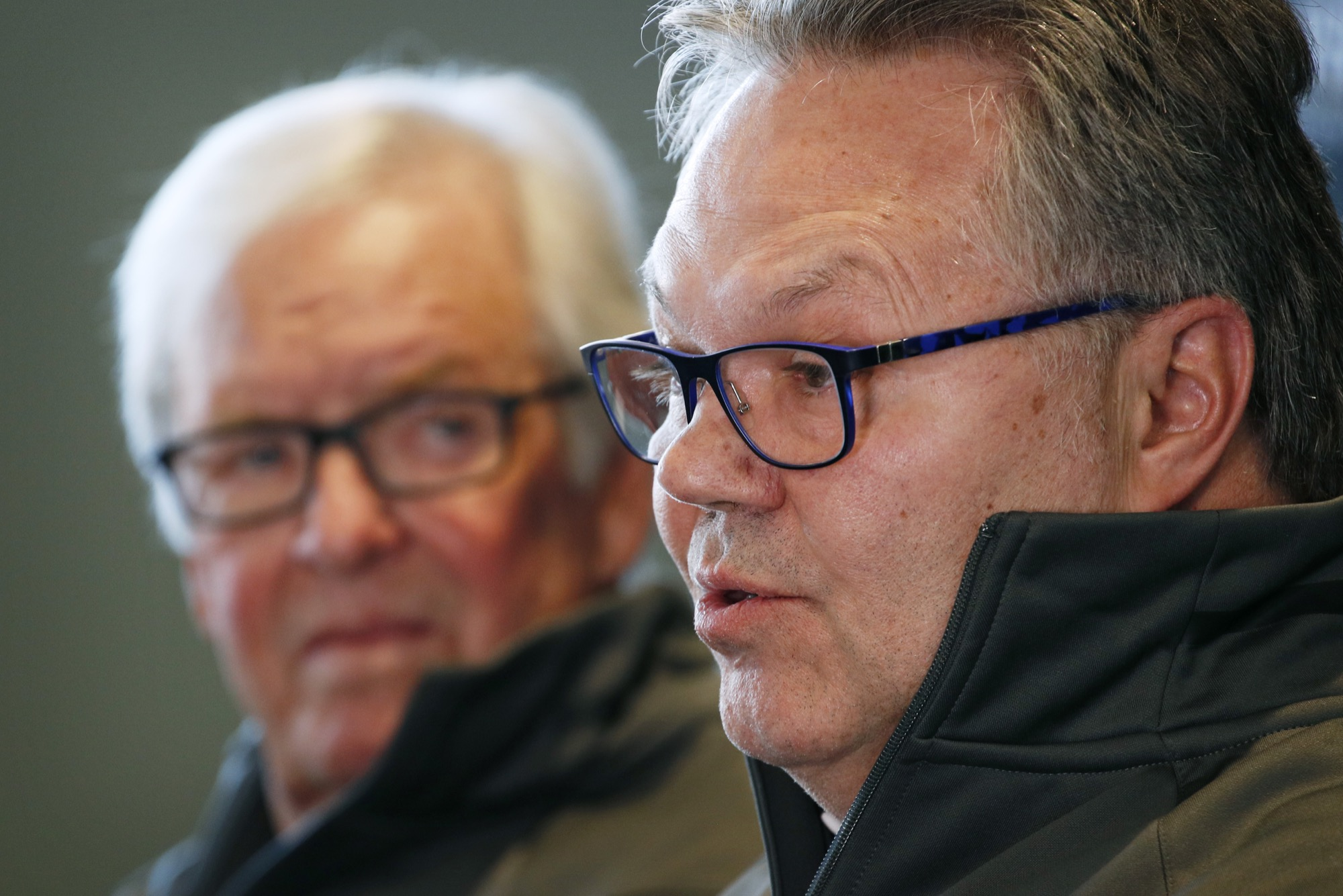 Brandon Wheat Kings owner and governor Kelly McCrimmon, right, is search for a new general manager for his Western Hockey League club.