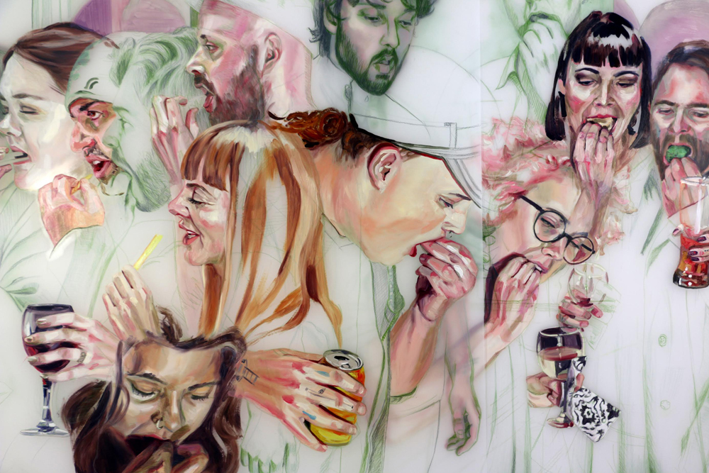 Lisa Wood�s piece, �Slip Inside,� an oil and coloured pencil drawing featured in an exhibition at The Art Gallery of Southwestern Manitoba that�s opening on Thursday. (Submitted)