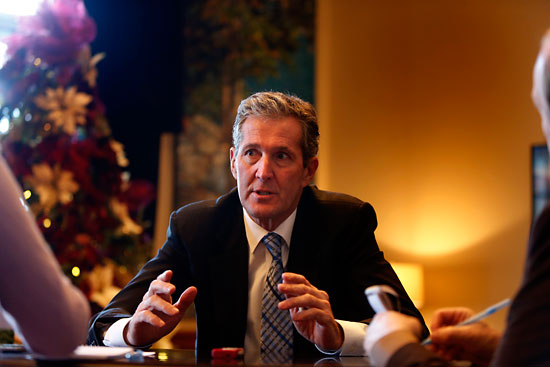 Premier Brian Pallister speaks during a year-end interview in his office at the Manitoba Legislative Building last month. Kerry Auriat argues that Pallister spending time in Costa Rica isn't as big a concern as some people believe, since Pallister is likely very seldom unreachable thanks to modern-day technology.