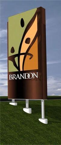 A rendering of the new Brandon highway signs, set to be installed this summer.