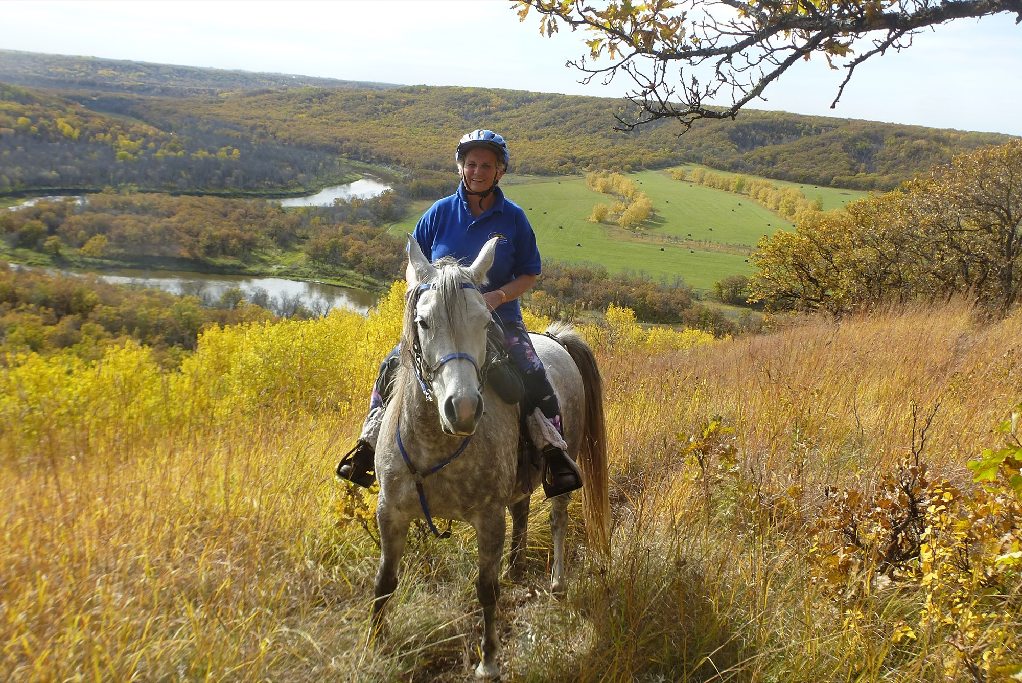 Myna Margetts is seen enjoying the Souris Bend Wildlife Management Area's equestrian trails in this undated photo.