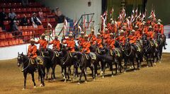 Members of the RCMP Musical Ride enter Westman Place in 2012.
