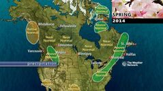 Meteorologists at the Weather Network expect normal precipitation in Manitoba from March through May 2014.