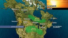 The 2014 summer outlook from the Weather Network calls for normal precipitation in Westman.