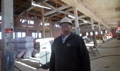 Display Building No. II restoration project manager Daryl Knight, seen here inside the Dome Building, is hopeful the historic structure's restoration will be completed later this year.