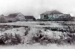 Fort Ellice in 1890, as seen from the north. Little remains of the fort today.