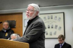 Orval Henderson speaks to city council on the establishment of the Brandon Community Builders on Tuesday evening.