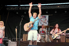 I am Jimmy! Brian Neale (right), with his band Northern Harbour, channels Jimmy Buffett for their fab beach party shows.
