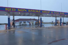 Red Sun Smoke Shop and Gas Bar eviction scene.