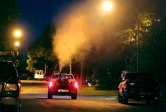 A city fogging truck makes a sweep through a residential neighbourhood in the southwest section of the city last year. The decision on whether or not to fog has been given more clarity and will no longer need approval from city council.