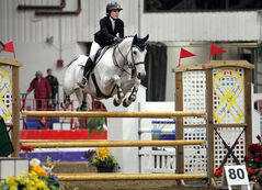 Shea Buckland competes in the Gamblers' Choice jumping event in Westman Place on Monday evening.